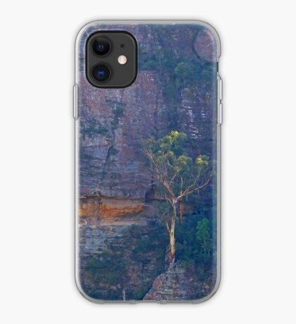 Trees on a cliff iPhone Case
