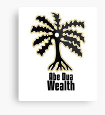 Adinkra Symbol: Ade Dua Literally: Palm tree Wealth, resourcefulness, and self-sufficiency Metal Print