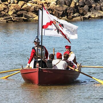 Cabrillo Approaching California, 1542 (San Diego Bay, 2013)  by heatherfriedman