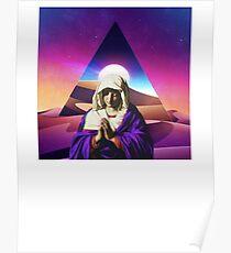 Vaporwave Aesthetic Sand Dunes Desert Prayer Blessed T-Shirt Poster