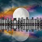 Moon Over The City by Peggy Garr