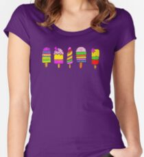 ice lollies (popsicles) Women's Fitted Scoop T-Shirt