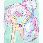 MerMay 2018: May 5th - Fluid Mermaid by dreampigment