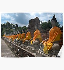 Robed Buddhas Poster