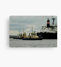 Phillip Woodman's Newcastle Harbour. Canvas Print