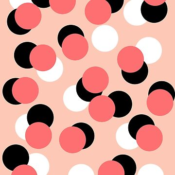 Cerla - Modern pattern design bold coral black white dots inky spots pattern for gifts trendy by charlottewinter