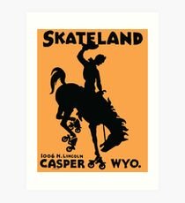 Skating Bronco Art Print