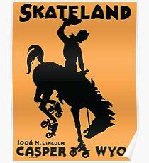 Skating Bronco Poster