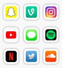 Pegatina Paquete de pegatinas de logotipo de la aplicación