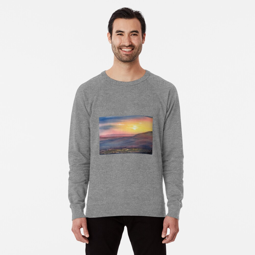 Sunset on Rosedale Head Lightweight Sweatshirt
