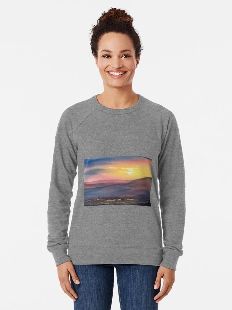 Alternate view of Sunset on Rosedale Head Lightweight Sweatshirt