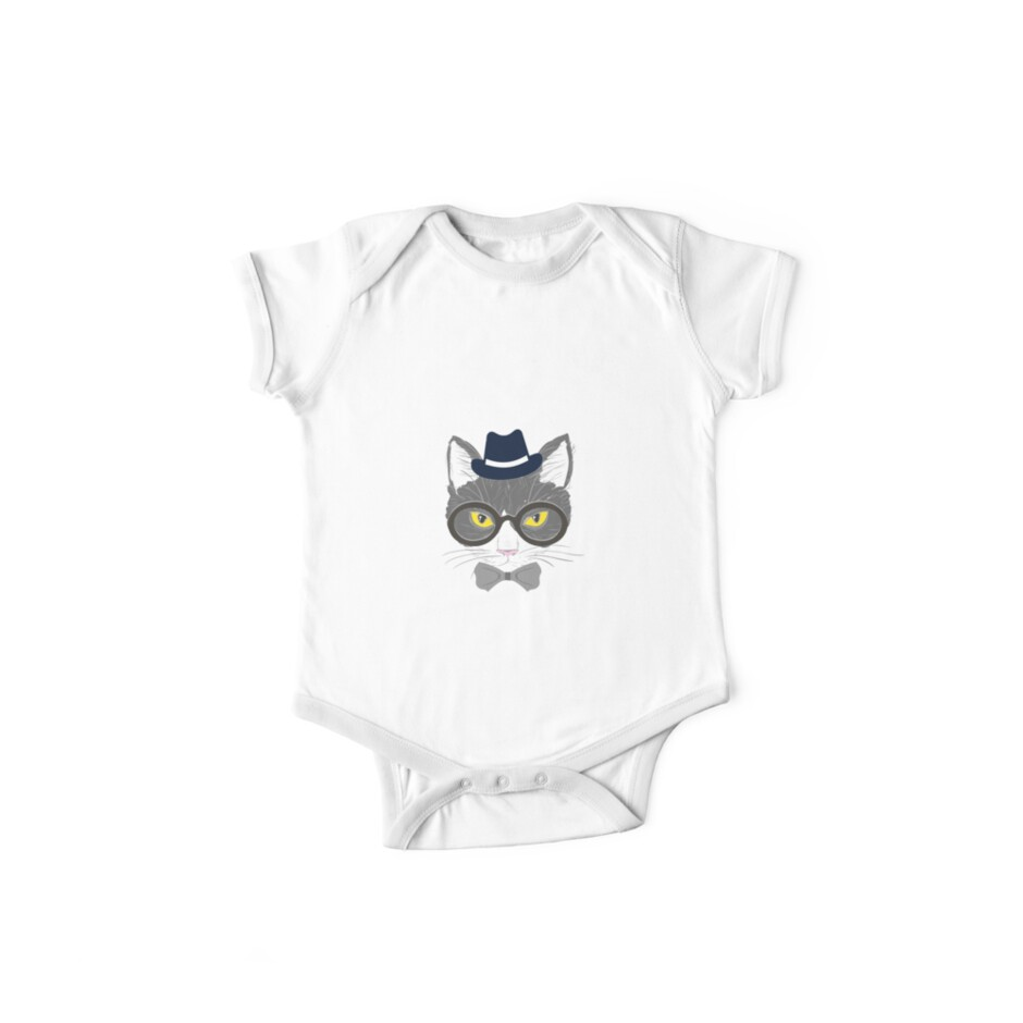 7985f97f24b Hipster Fancy Cat Lover Kitty Lover Sir Cat Cate Fedora Serious Glasses  British Mustache T-Shirt