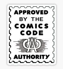 Comics Code Authority Sticker