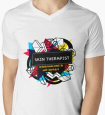 SKIN THERAPIST Men's V-Neck T-Shirt