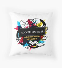 SOCCER MANAGER Throw Pillow