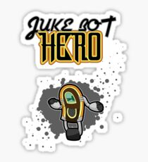 Juke Bot Hero - Splatter background Sticker