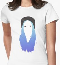 Blue Vector Women's Fitted T-Shirt