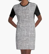flax material Graphic T-Shirt Dress