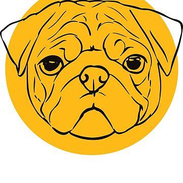 Pug Mustard by KillbotClothing