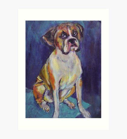 Boxer Boy Art Print