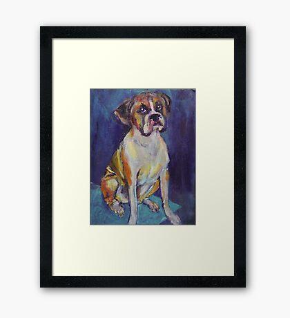 Boxer Boy Framed Print