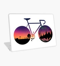 Pedaling North Laptop Skin