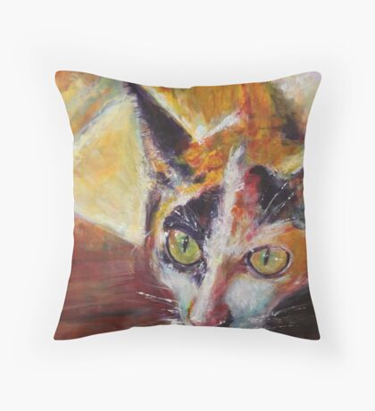 Scardey Cat Throw Pillow