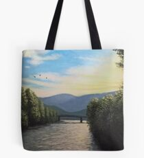Sunset over the Isarco Tote Bag