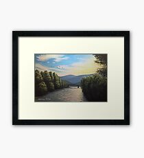 Sunset over the Isarco Framed Print
