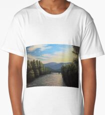 Sunset over the Isarco Long T-Shirt