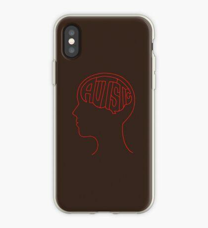Autistic Mind  – Red iPhone Case