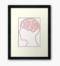 Autistic Mind  – Red Framed Print