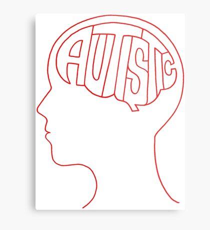 Autistic Mind  – Red Metal Print
