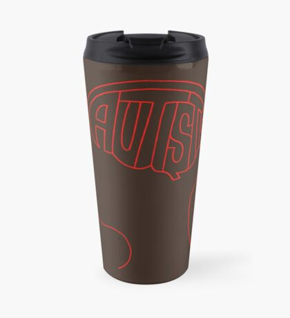 Autistic Mind  – Red Travel Mug