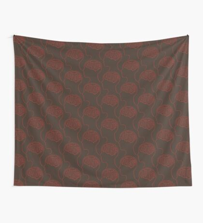 Autistic Mind  – Red Wall Tapestry