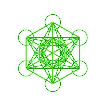Metatron's cube green by SKETSIE