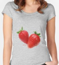 Antioxidant Strawberries Women's Fitted Scoop T-Shirt
