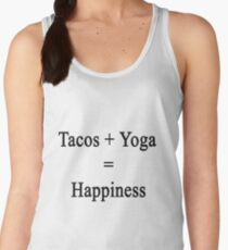 Tacos + Yoga = Happiness  Women's Tank Top