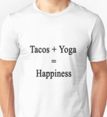 Tacos + Yoga = Happiness  Unisex T-Shirt