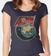 CCCP Flag Satellite Women's Fitted Scoop T-Shirt