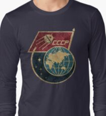 CCCP-Flaggensatellit Langarmshirt