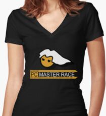 PC Master Race  Women's Fitted V-Neck T-Shirt