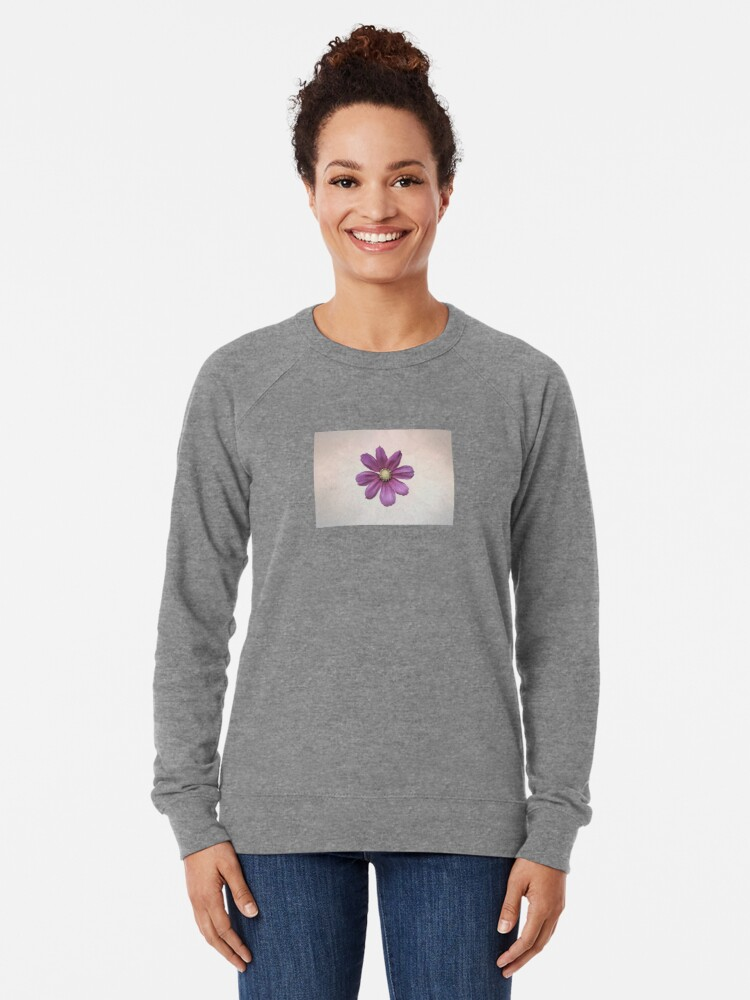 Alternate view of Purple Cosmos Flower Lightweight Sweatshirt