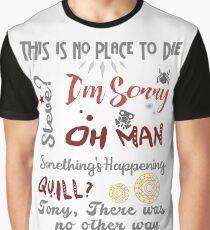Letzte Worte Grafik T-Shirt