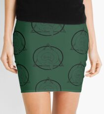 PD (ytb) Theta-Delta Therian Symbol BLACK  Mini Skirt