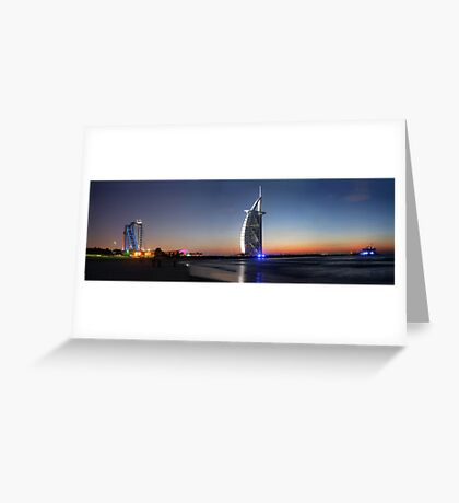 Burj Al Arab, Jumeirah-Beach, Dubai Greeting Card