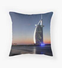 Burj Al Arab, Jumeirah-Beach, Dubai Throw Pillow