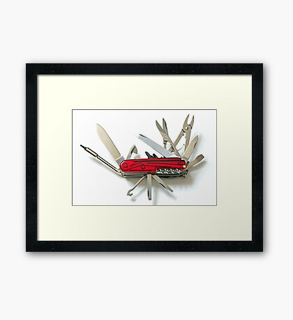 Scout Knife Framed Print