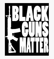 Black Guns Matter Pro Gun Black Ar 15 Ak47 2Nd Amendment Gun T-Shirts Photographic Print