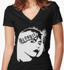Blondie New Wave Punk Rock 70's 80's Vintage Style 70S T-Shirts Women's Fitted V-Neck T-Shirt